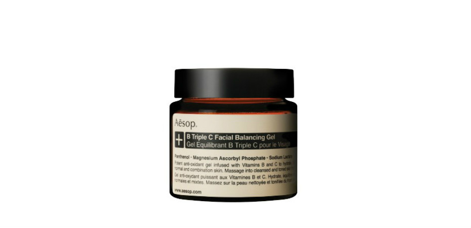 Aesop B Triple C Facial Balancing Gel | Best face moisturisers for Singapore weather