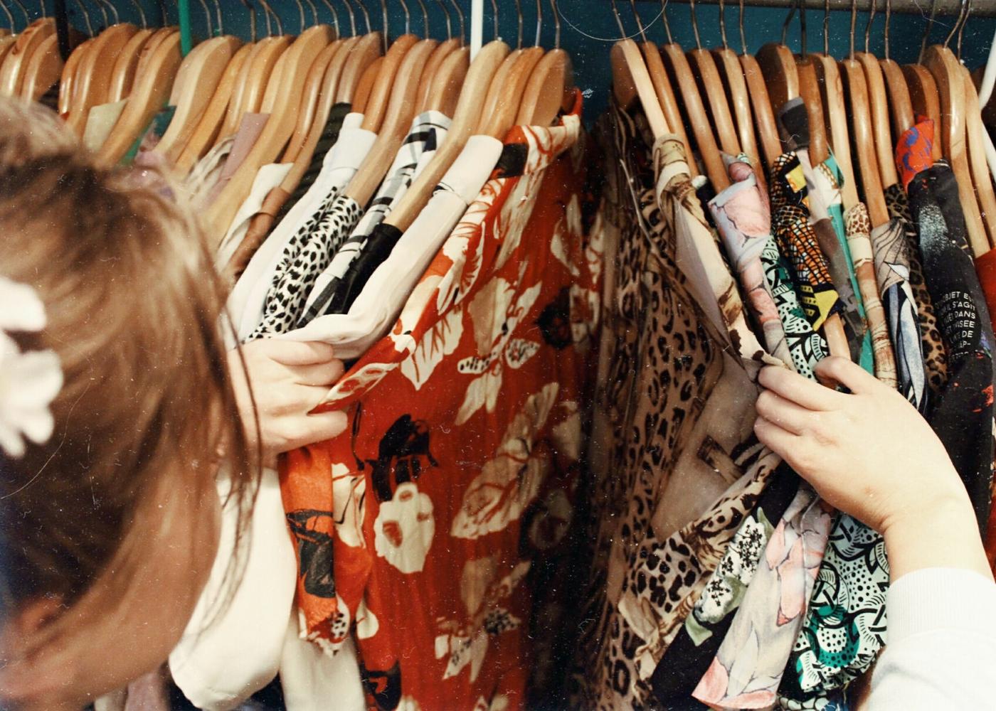 shopping clothes rack