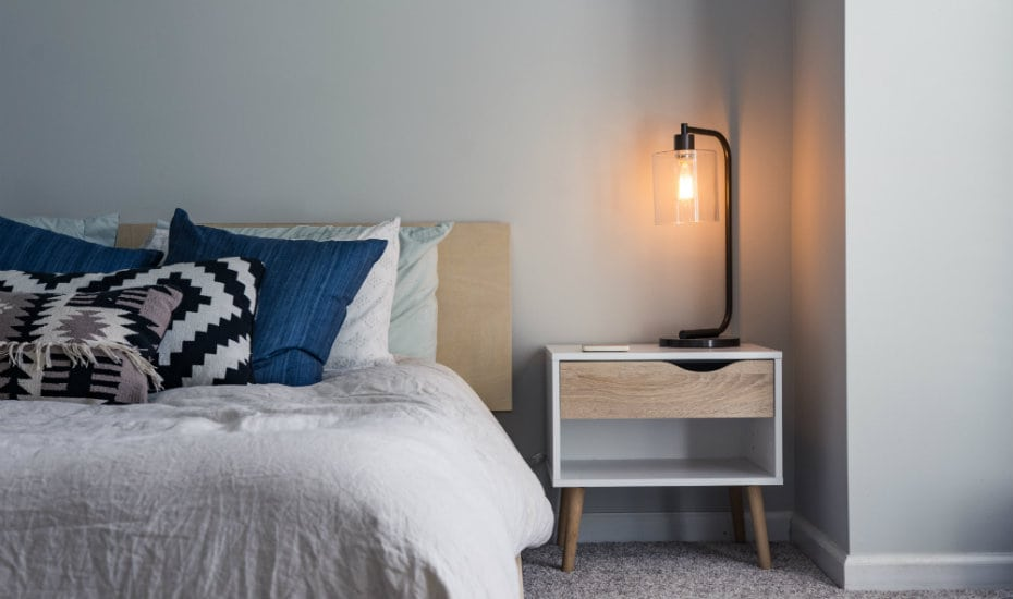 Sleep hacks: A nice, inviting bed will contribute to better quality sleep.