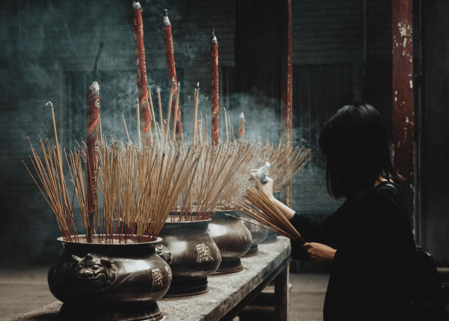 temple joss sticks | hungry ghost festival