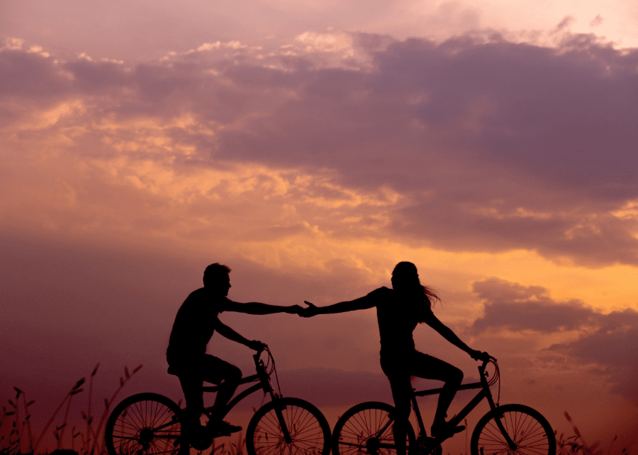 couple cycling | dating in singapore