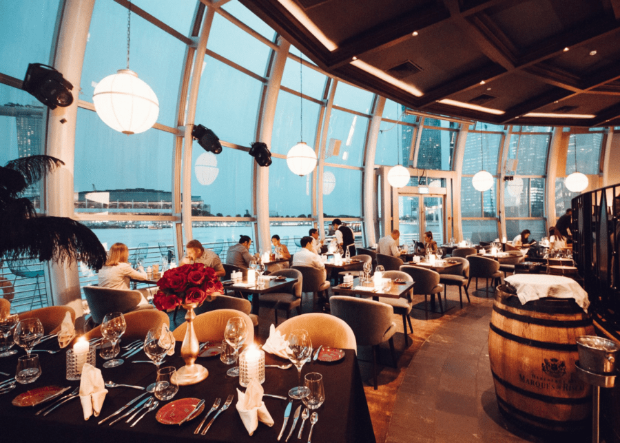monti | romantic restaurants in singapore