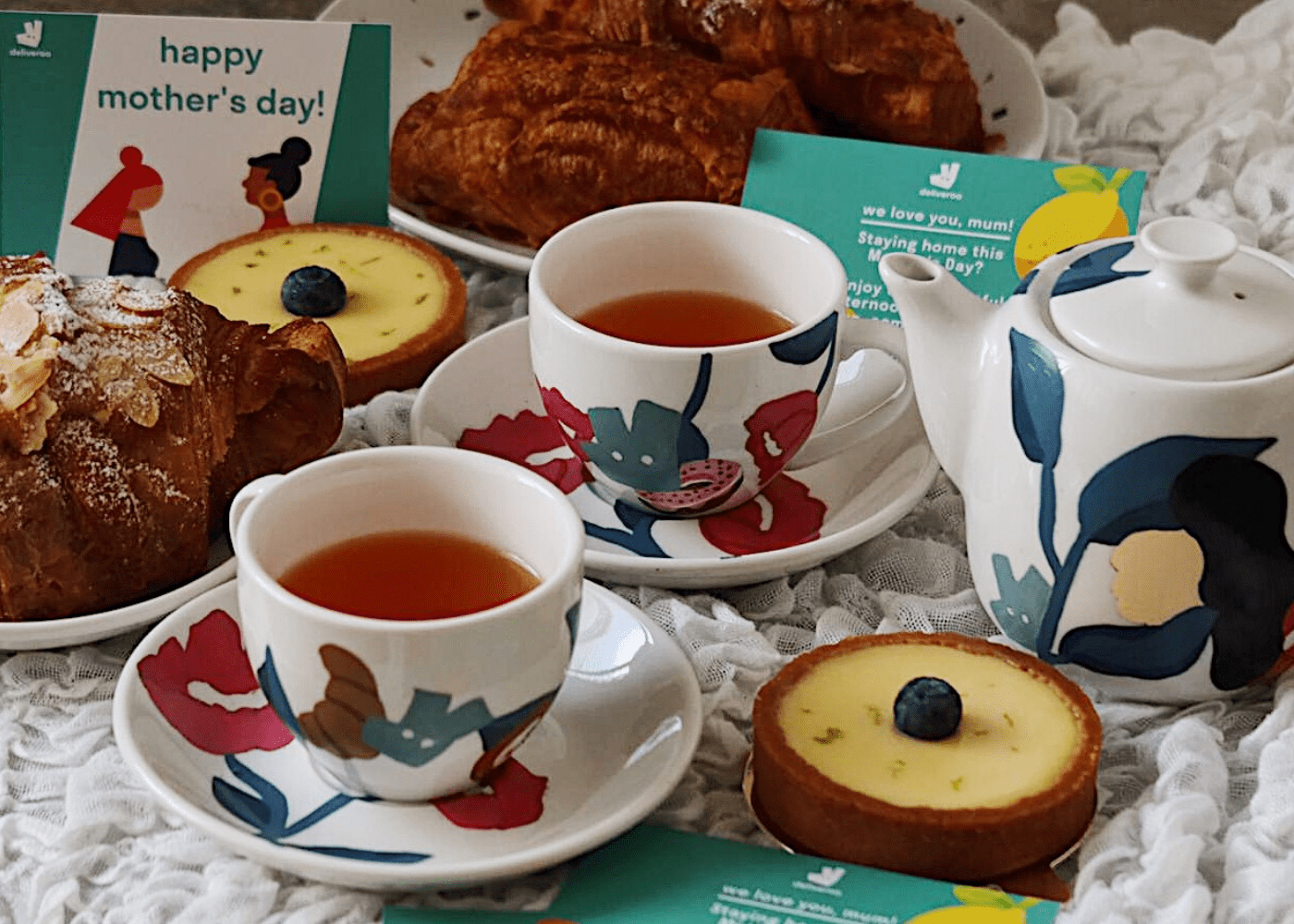 Artisan Boulangerie Co. and Deliveroo | Win a special tea set for mum | Mothers Day