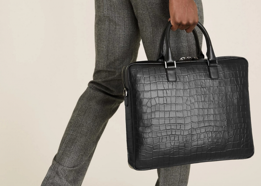 M&S Collection Mock Croc Leather Laptop Bag-fathers-day-gift-ideas