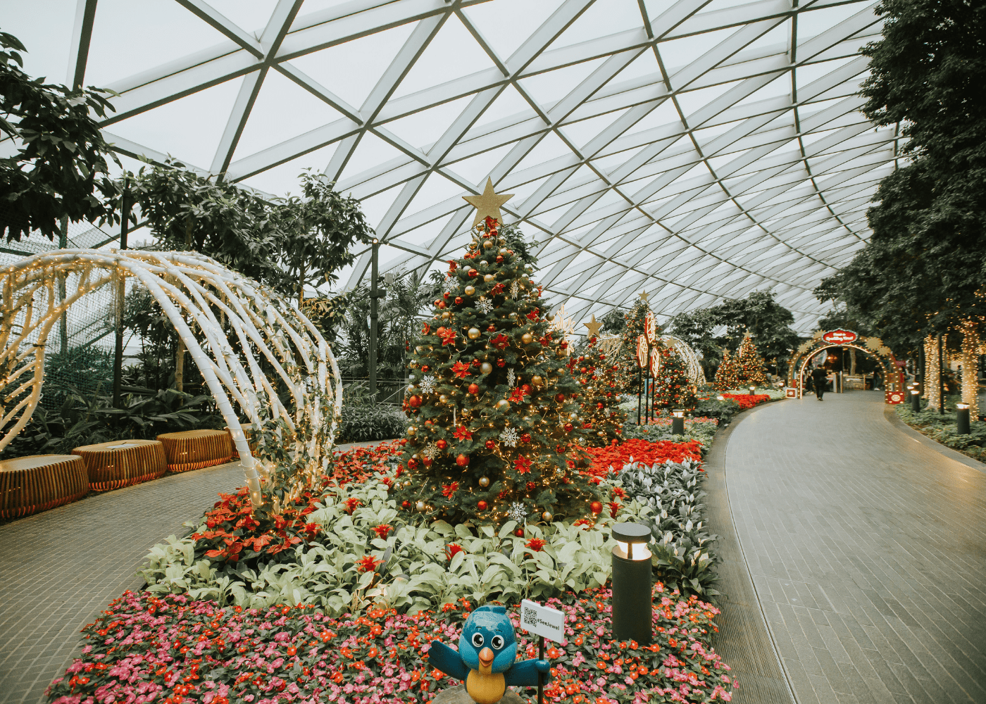jewel changi airport | christmas lights in singapore