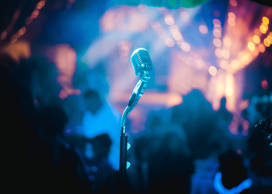 microphone on stage | singapore nightlife reopening