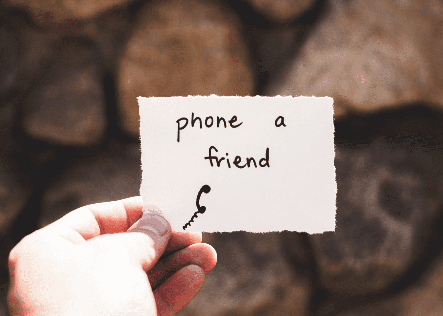 anxiety attack   phone a friend
