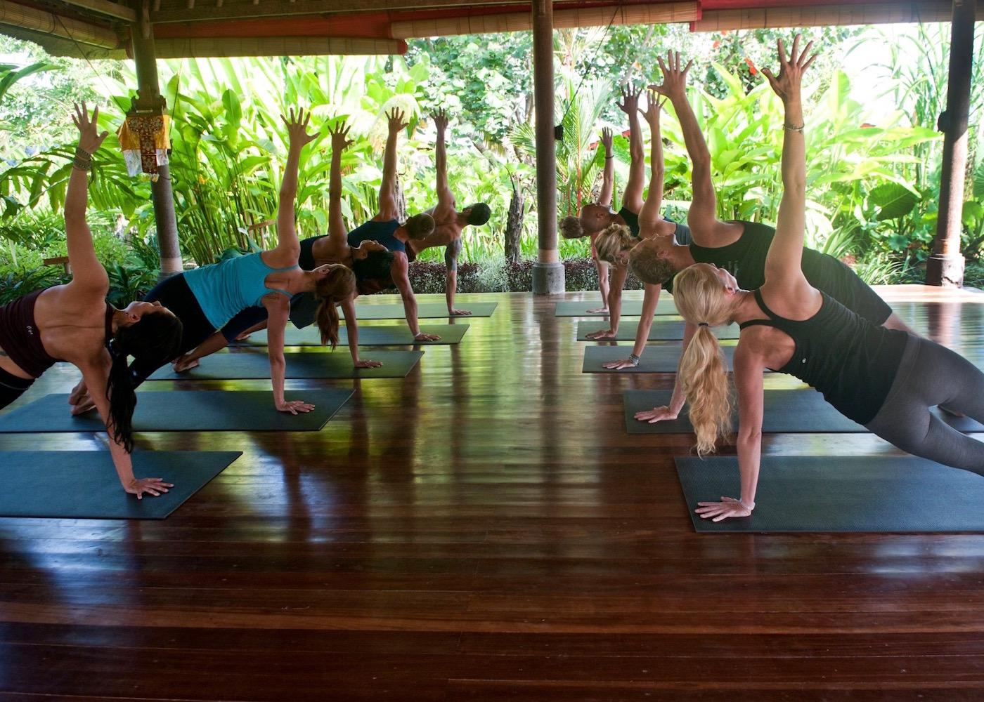 Yogis at Desa Seni Yoga studio in Canggu, Bali, Indonesia
