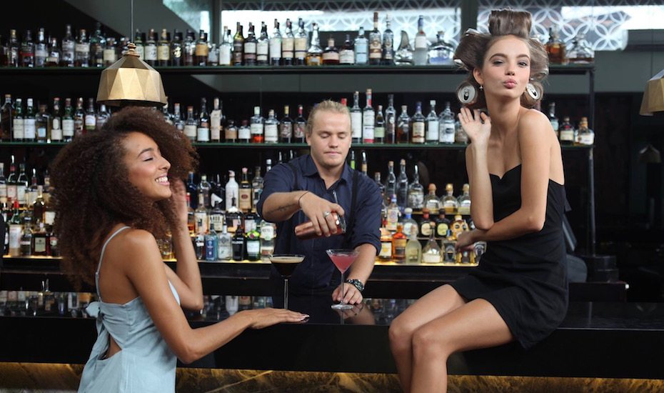 Hair treatments and cocktails at Blow Bar in Seminyak - one of the best spas in Bali, Indonesia