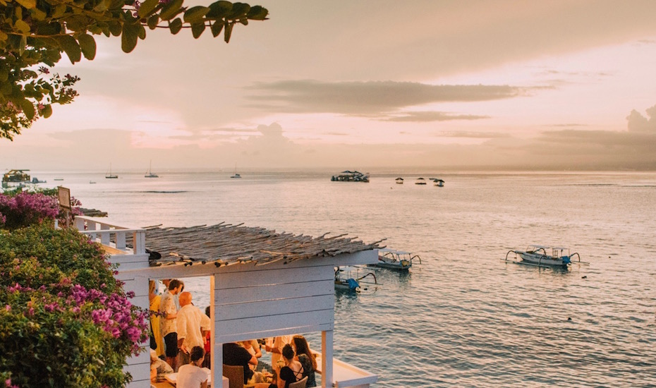 best sunset bars in Bali - The Deck Lembongan