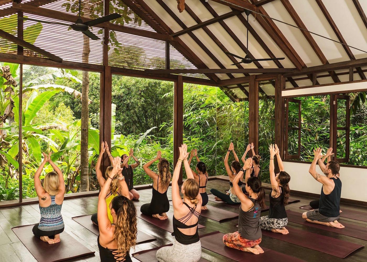 Yogis at Radiantly Alive in Ubud, Bali, Indonesia