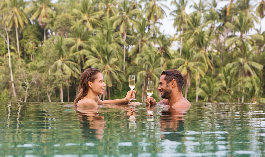 Pool bar at Viceroy | Valentine's Day in Bali