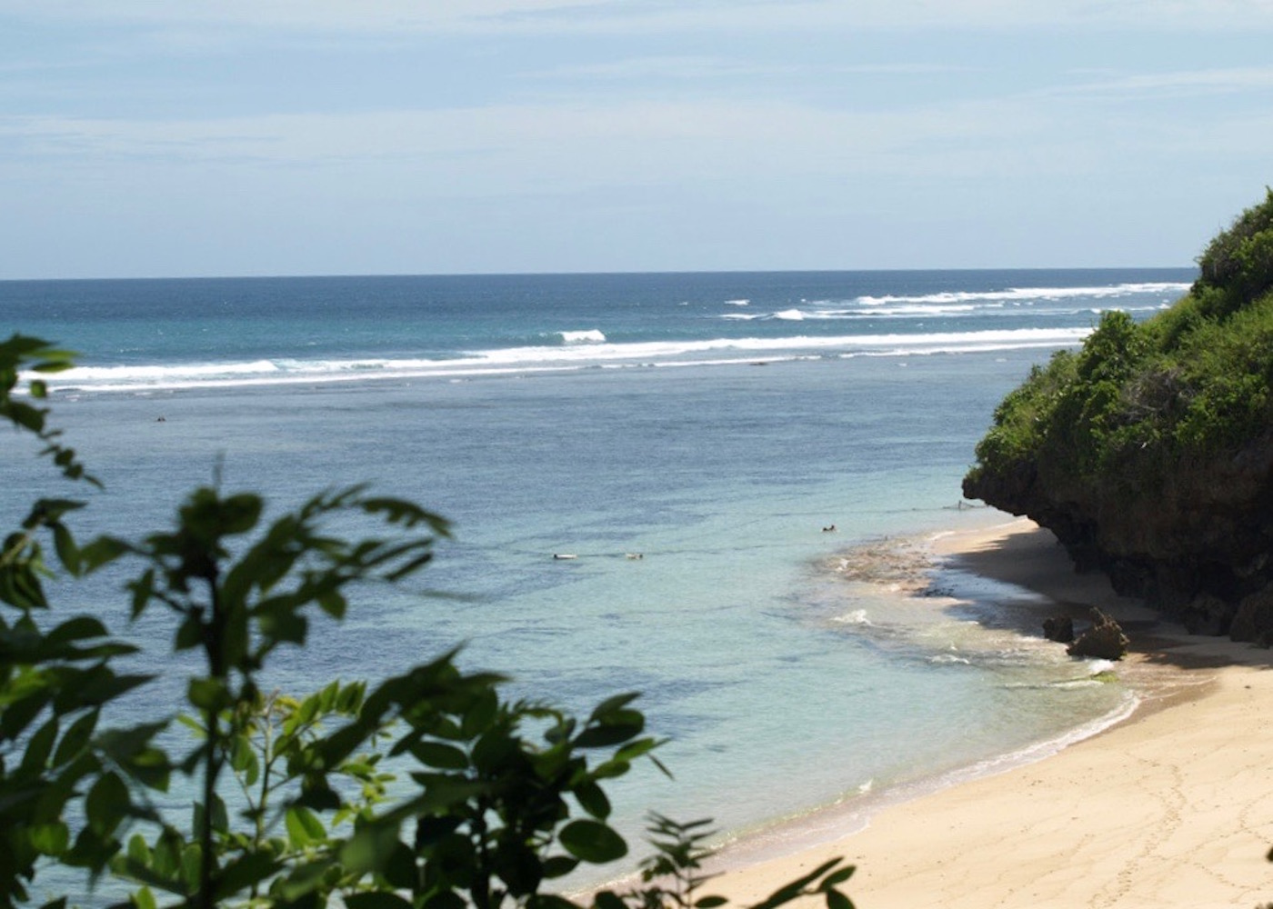 Aerial view of Gunung Paying - one of the best beaches in Bali, Indonesia