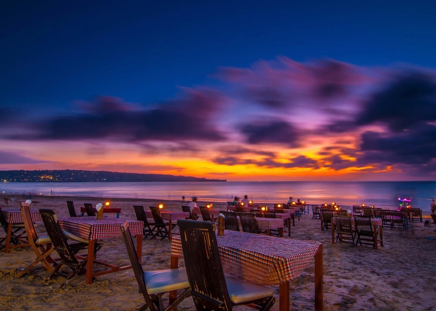Seafood sunset BBQ at Jimbaran Bay - one of Bali's best beaches