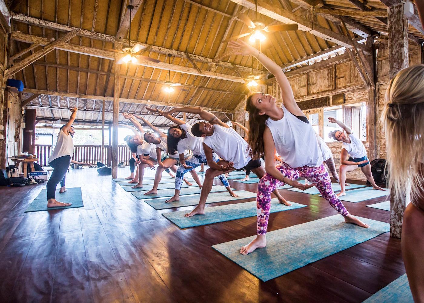 Yogis at Serenity Yoga studio in Canggu, Bali, Indonesia