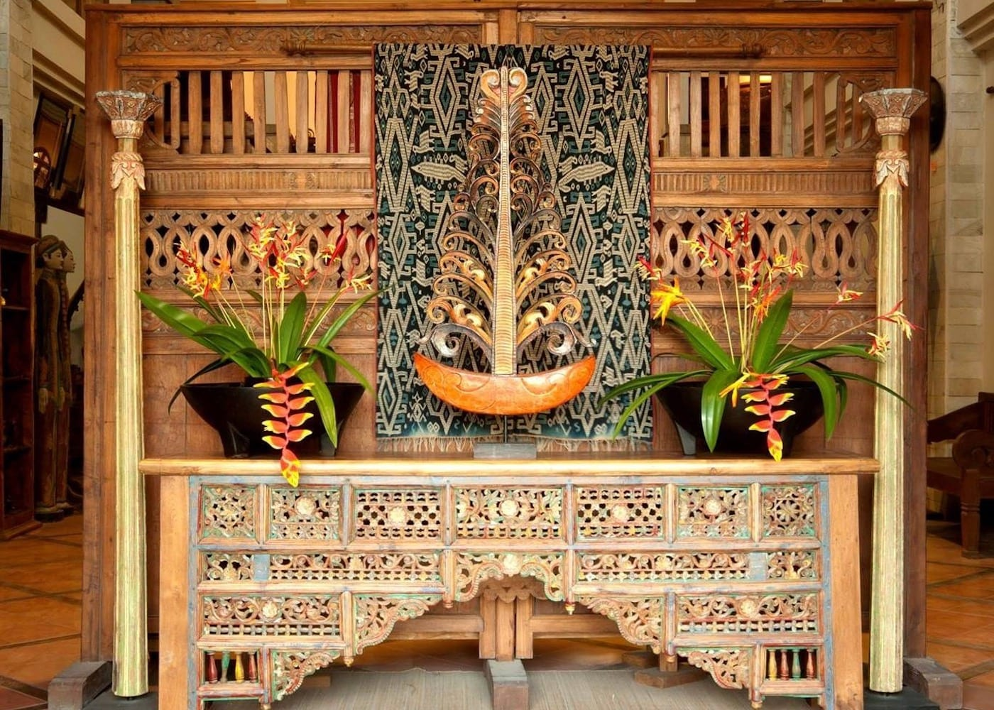 Ikat Gallery & Furniture Store in Bali, Indonesia