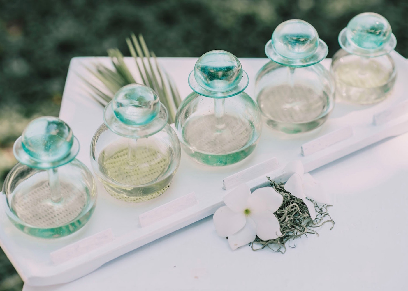 Spa oils and scents on Nusa Lembongan island in Bali, Indonesia