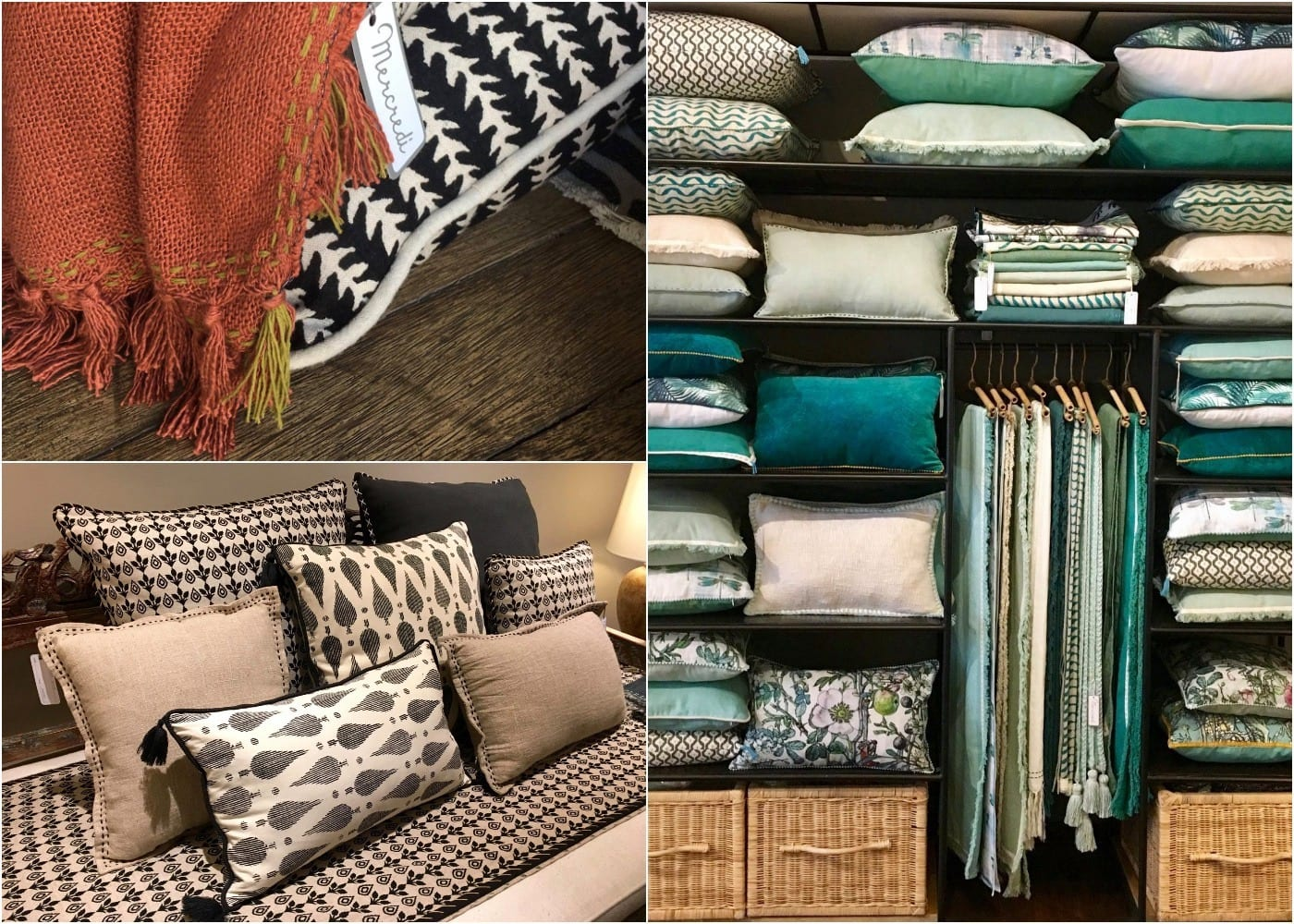 Pillows, blankets and throws from Mercredi in Seminyak, Bali, Indonesia