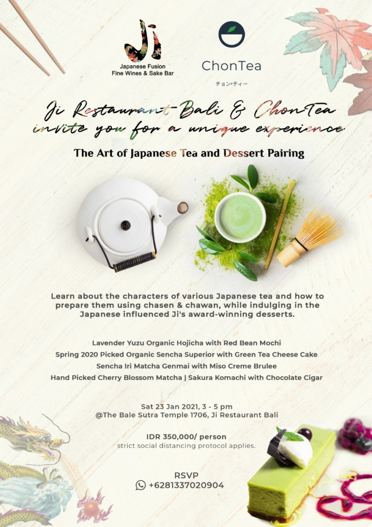 The Art of Japanese Tea and Dessert Pairing  with Ji Restaurant Bali & ChonTea