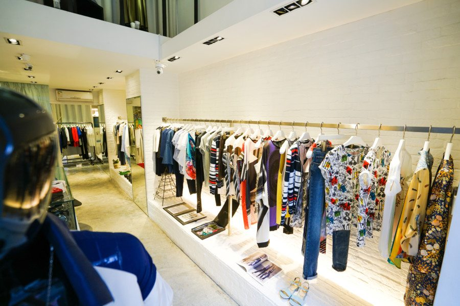fashion boutiques in Central Thei interior shot high street fashion
