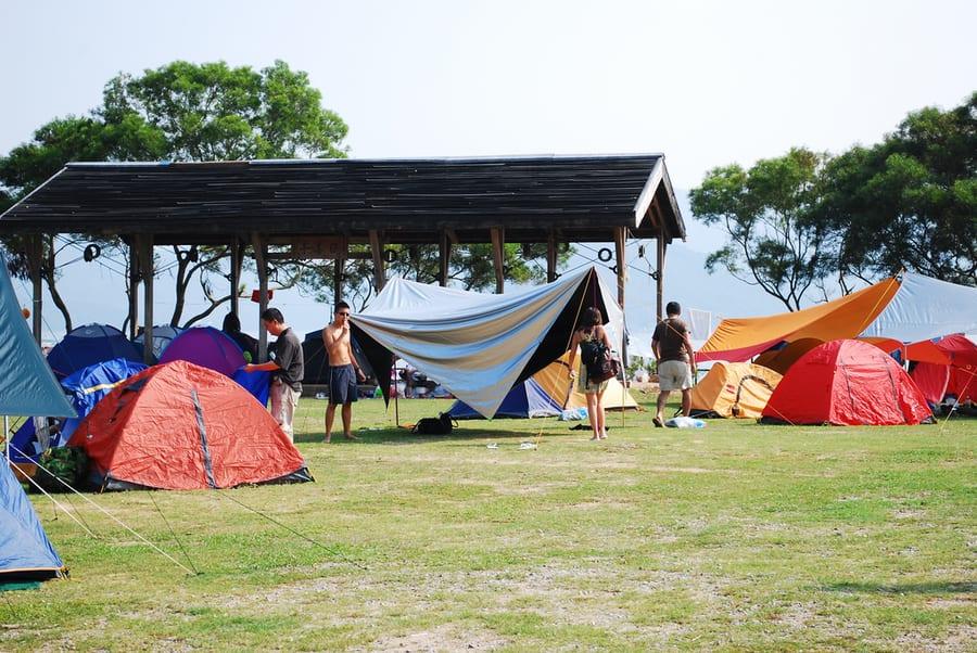 camping in Hong Kong Wan Tsai
