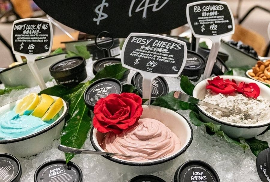 Lush vegan skincare in Hong Kong cruelty-free products