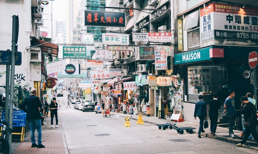 Plogging in Hong Kong streets
