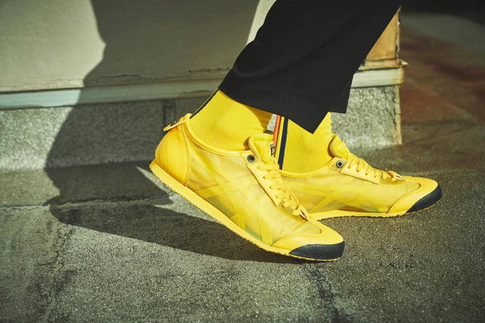 Onitsuka Tiger sneakers in yellow | where to shop sneakers in Hong Kong