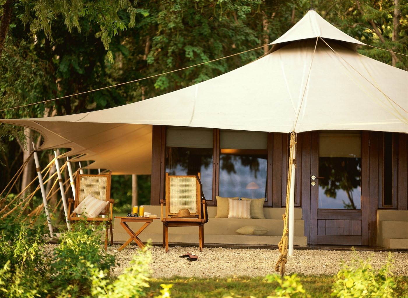 luxury camping holidays Amanwana Indonesia